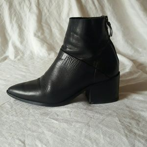 Topshop midnight tall ankle booties